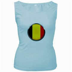 Belgium Flag Country Brussels Women s Baby Blue Tank Top