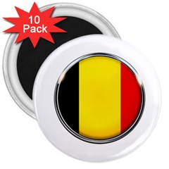Belgium Flag Country Brussels 3  Magnets (10 Pack)