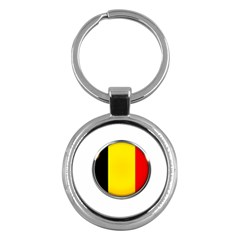 Belgium Flag Country Brussels Key Chains (round)  by Nexatart