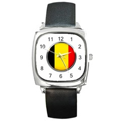 Belgium Flag Country Brussels Square Metal Watch
