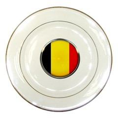 Belgium Flag Country Brussels Porcelain Plates