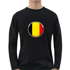 Belgium Flag Country Brussels Long Sleeve Dark T Shirts