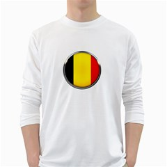 Belgium Flag Country Brussels White Long Sleeve T Shirts