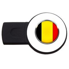 Belgium Flag Country Brussels Usb Flash Drive Round (4 Gb) by Nexatart