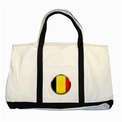 Belgium Flag Country Brussels Two Tone Tote Bag