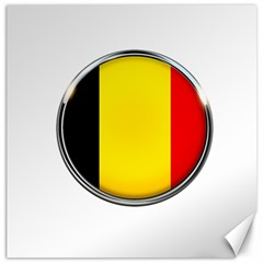 Belgium Flag Country Brussels Canvas 16  X 16