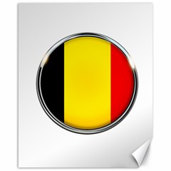 Belgium Flag Country Brussels Canvas 16  X 20