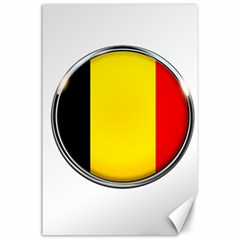 Belgium Flag Country Brussels Canvas 24  X 36
