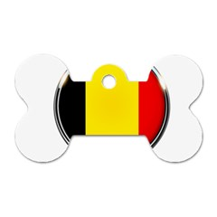 Belgium Flag Country Brussels Dog Tag Bone (one Side)