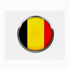 Belgium Flag Country Brussels Small Glasses Cloth (2 Side)