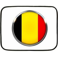 Belgium Flag Country Brussels Fleece Blanket (mini)