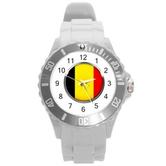 Belgium Flag Country Brussels Round Plastic Sport Watch (l)