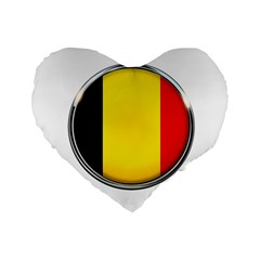 Belgium Flag Country Brussels Standard 16  Premium Heart Shape Cushions