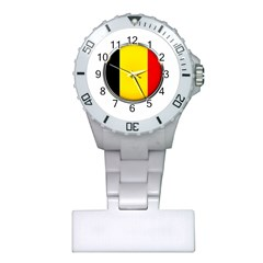 Belgium Flag Country Brussels Plastic Nurses Watch