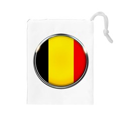 Belgium Flag Country Brussels Drawstring Pouches (large)
