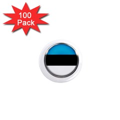 Estonia Country Flag Countries 1  Mini Magnets (100 Pack)  by Nexatart