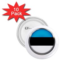 Estonia Country Flag Countries 1 75  Buttons (10 Pack)