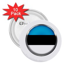 Estonia Country Flag Countries 2 25  Buttons (10 Pack)  by Nexatart