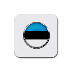 Estonia Country Flag Countries Rubber Coaster (square)