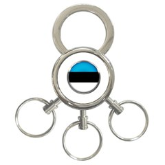 Estonia Country Flag Countries 3 Ring Key Chains
