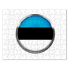 Estonia Country Flag Countries Rectangular Jigsaw Puzzl by Nexatart