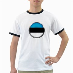 Estonia Country Flag Countries Ringer T Shirts