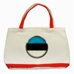 Estonia Country Flag Countries Classic Tote Bag (red)