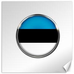 Estonia Country Flag Countries Canvas 20  X 20