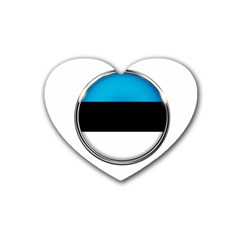 Estonia Country Flag Countries Heart Coaster (4 Pack)