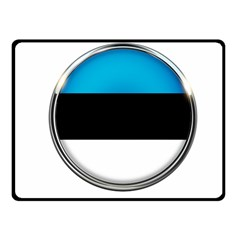 Estonia Country Flag Countries Fleece Blanket (small)