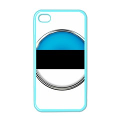 Estonia Country Flag Countries Apple Iphone 4 Case (color)
