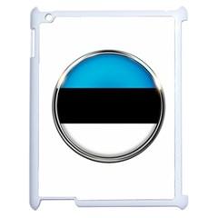 Estonia Country Flag Countries Apple Ipad 2 Case (white)