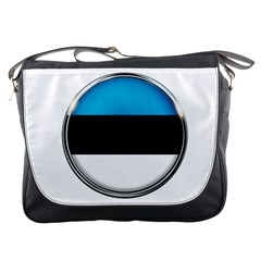 Estonia Country Flag Countries Messenger Bags