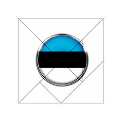 Estonia Country Flag Countries Acrylic Tangram Puzzle (4  X 4 ) by Nexatart