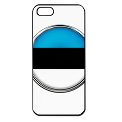 Estonia Country Flag Countries Apple Iphone 5 Seamless Case (black)