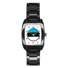 Estonia Country Flag Countries Stainless Steel Barrel Watch