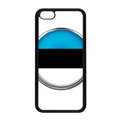 Estonia Country Flag Countries Apple Iphone 5c Seamless Case (black)