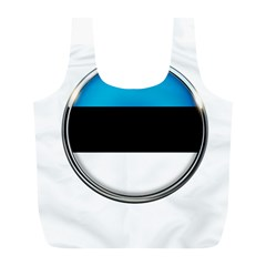 Estonia Country Flag Countries Full Print Recycle Bags (l)