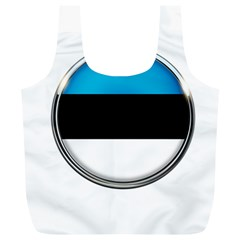 Estonia Country Flag Countries Full Print Recycle Bags (l)  by Nexatart