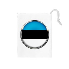 Estonia Country Flag Countries Drawstring Pouches (medium)