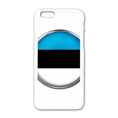 Estonia Country Flag Countries Apple Iphone 6/6s White Enamel Case