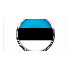 Estonia Country Flag Countries Satin Shawl