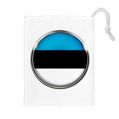 Estonia Country Flag Countries Drawstring Pouches (extra Large)