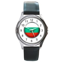 Bulgaria Country Nation Nationality Round Metal Watch