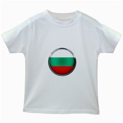 Bulgaria Country Nation Nationality Kids White T Shirts