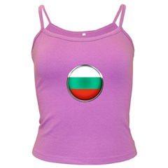 Bulgaria Country Nation Nationality Dark Spaghetti Tank