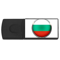 Bulgaria Country Nation Nationality Rectangular Usb Flash Drive