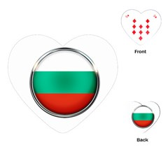 Bulgaria Country Nation Nationality Playing Cards (heart)