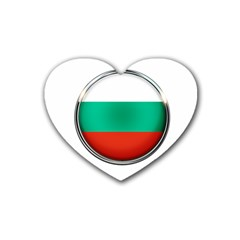 Bulgaria Country Nation Nationality Rubber Coaster (heart)