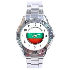 Bulgaria Country Nation Nationality Stainless Steel Analogue Watch